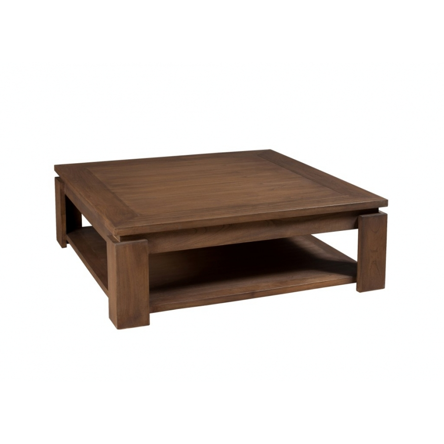 Table basse sous plateau 90 x 90 cm mindi dpi import for Table basse plateau