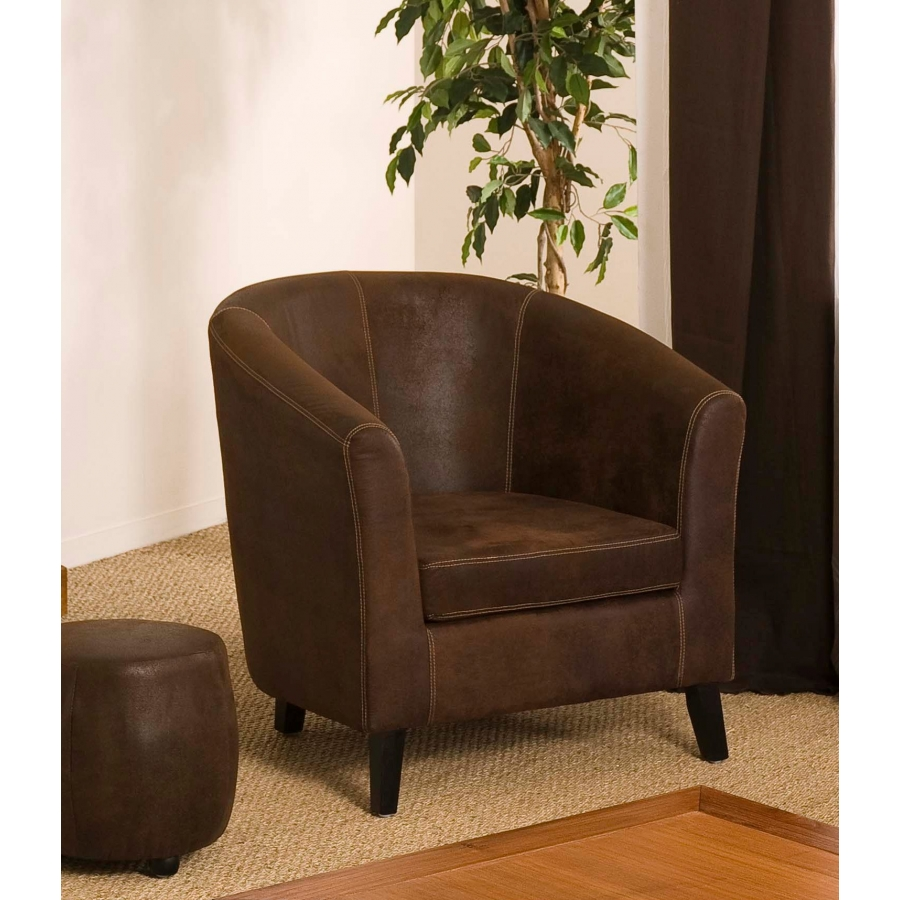 fauteuil cabriolet marron microfibre dpi import. Black Bedroom Furniture Sets. Home Design Ideas