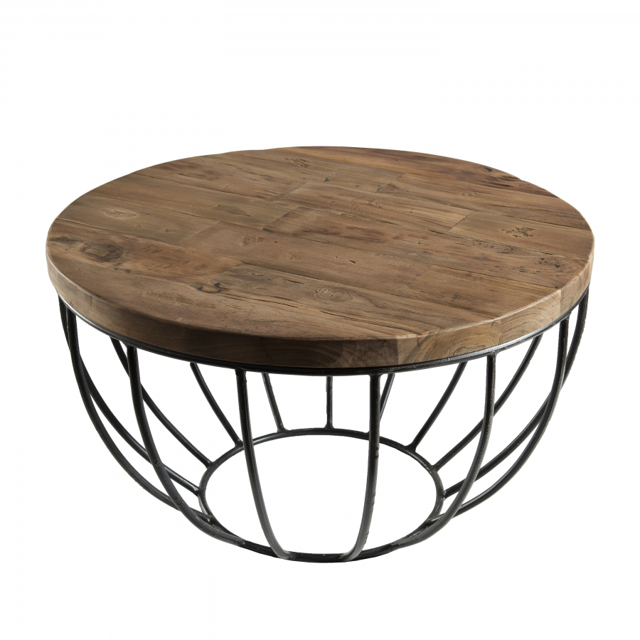 Table basse coque noire 60 x 60 cm dpi import for Table basse 60 cm