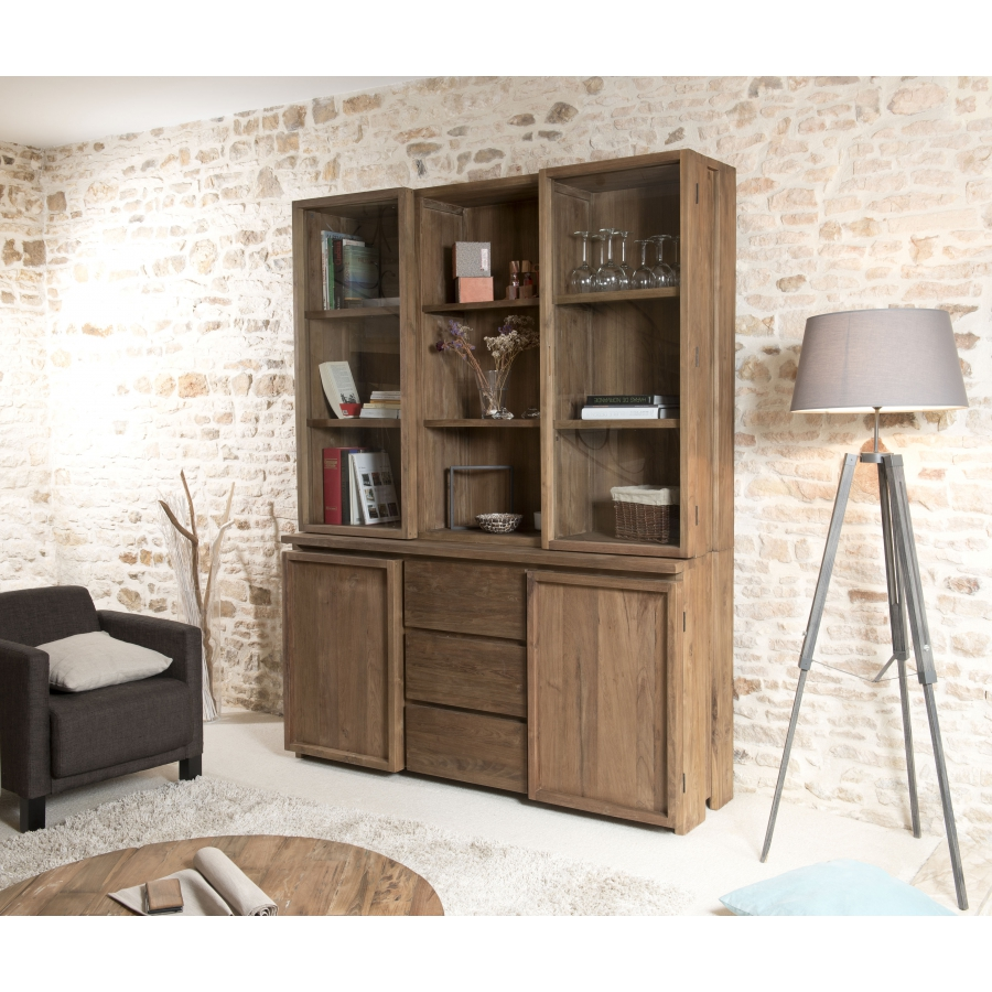 bahut vaisselier 2 portes 3 tiroirs dpi import. Black Bedroom Furniture Sets. Home Design Ideas