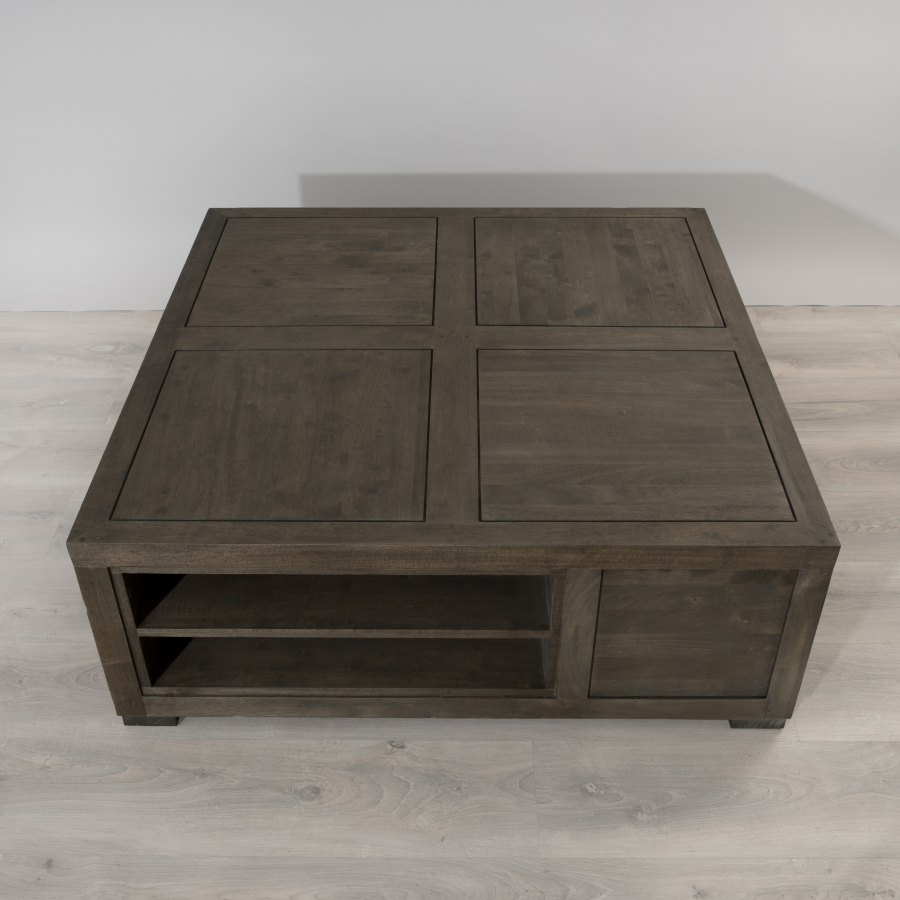Table basse carree avec rangement 28 images table - Table basse carree 100x100 ...