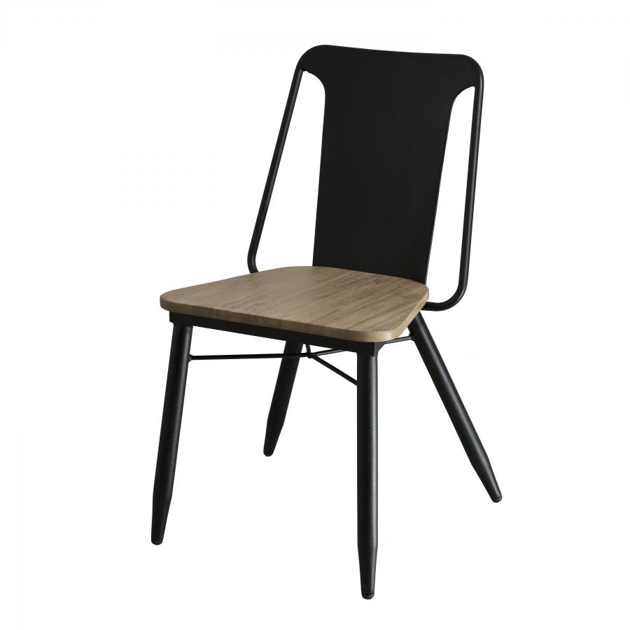 lot de 2 chaises bois et m tal dpi import. Black Bedroom Furniture Sets. Home Design Ideas