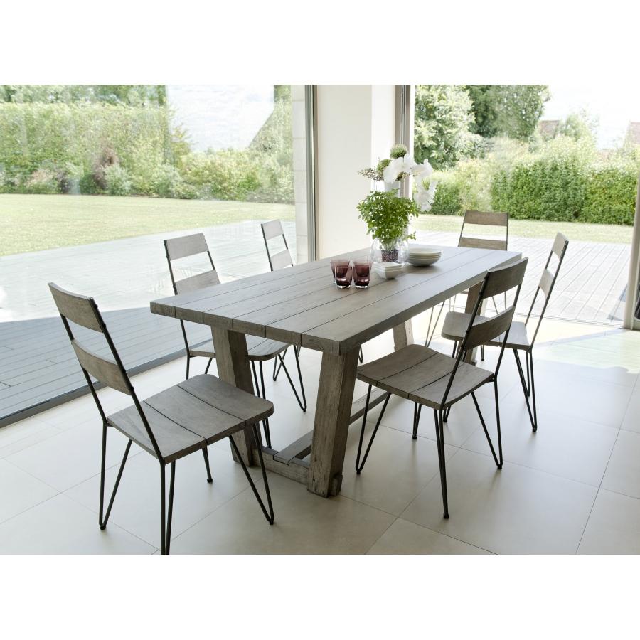 Salon de jardin n°305 comprenant 1 table à manger rectangulaire et ...