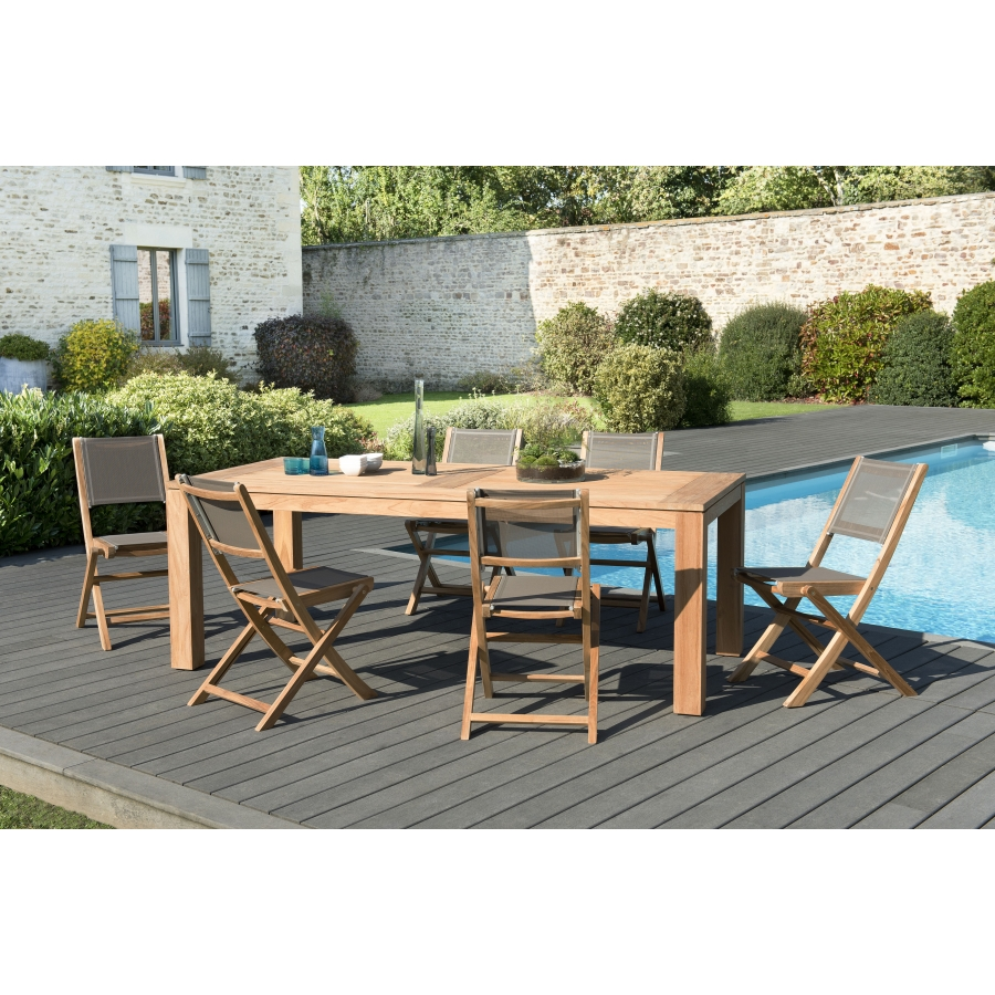 salon de jardin n 136 comprenant 1 table manger denver 220 100cm et 3 lots de 2 chaises. Black Bedroom Furniture Sets. Home Design Ideas