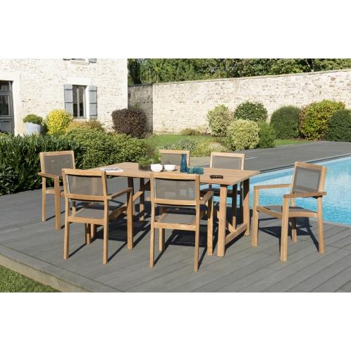 Salon de jardin n°144 comprenant 1 table SOHO 180*90cm ...