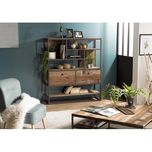 http://www.dpi-import.com/4421-thick_dpi-import/etagere-2-tiroirs-et-7-niches-teck-recycle-acacia-mahogany-et-metal.jpg